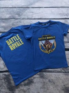 T-shirt  Battle Royale Fortnite niebieski